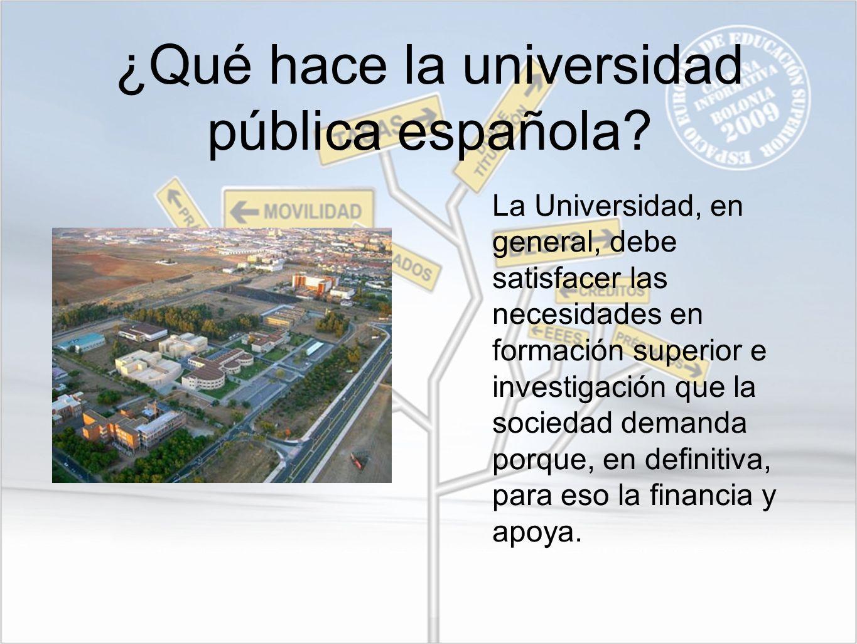 ¿Qué hace la universidad pública española