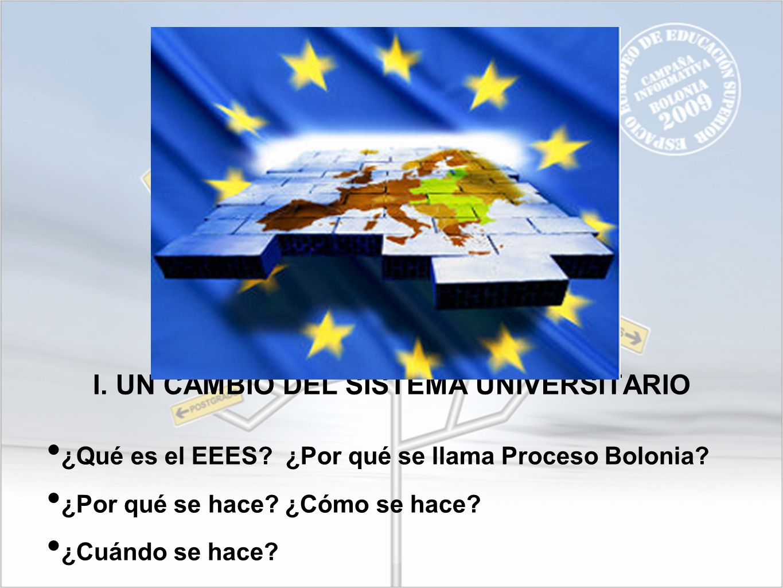 I. UN CAMBIO DEL SISTEMA UNIVERSITARIO