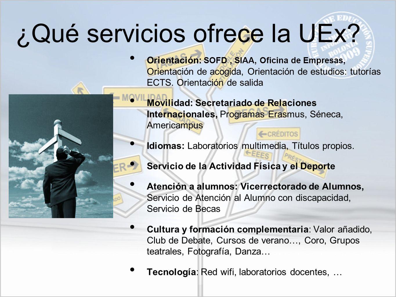 ¿Qué servicios ofrece la UEx