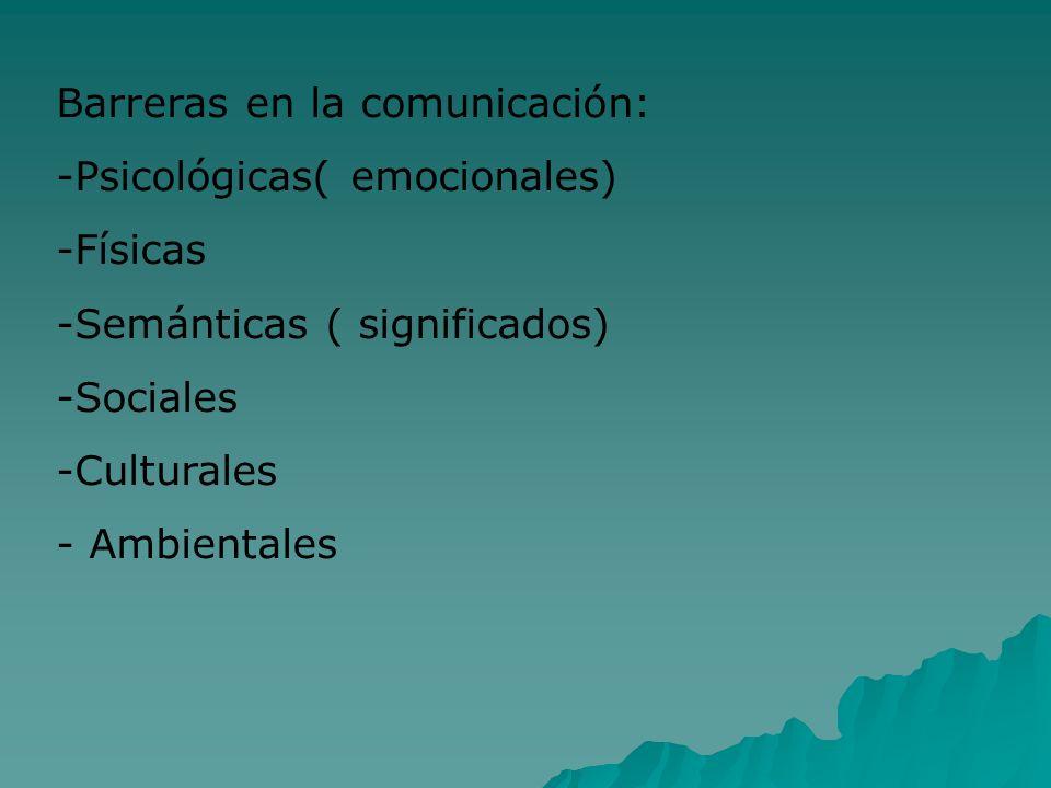 Barreras en la comunicación: