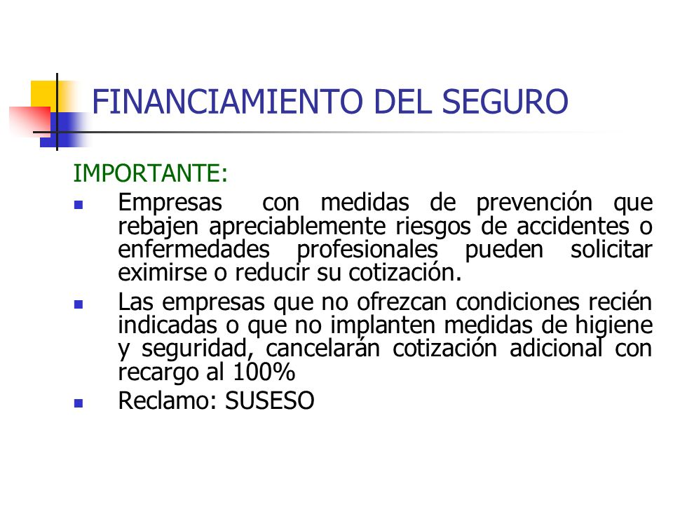 FINANCIAMIENTO DEL SEGURO
