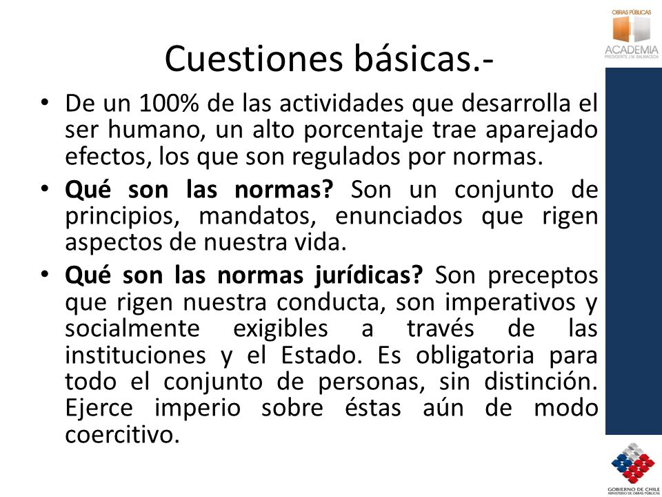 Cuestiones básicas.-
