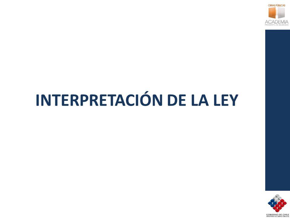 INTERPRETACIÓN DE LA LEY