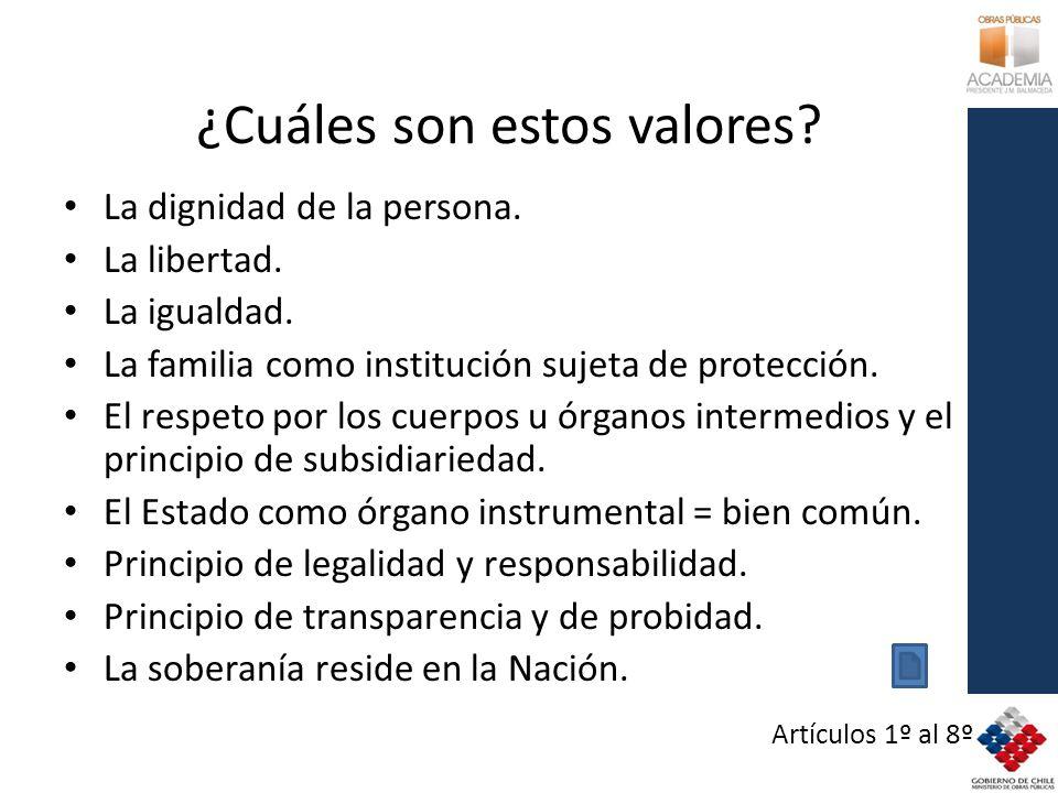 ¿Cuáles son estos valores