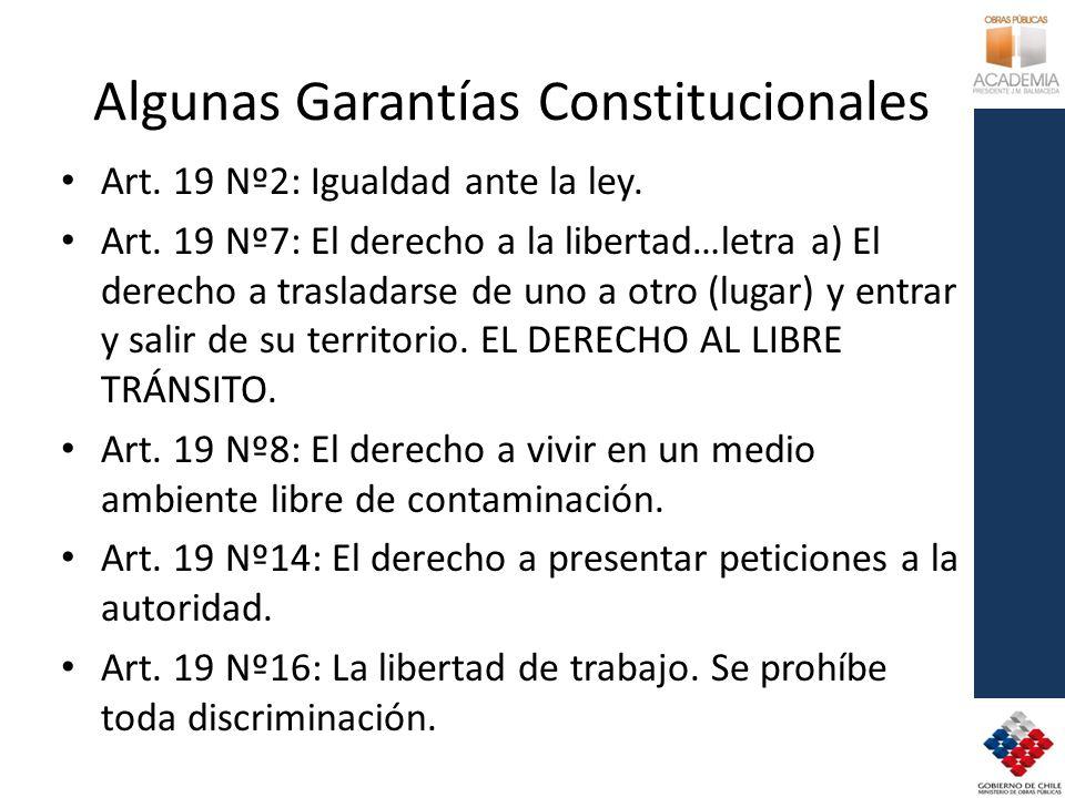 Algunas Garantías Constitucionales
