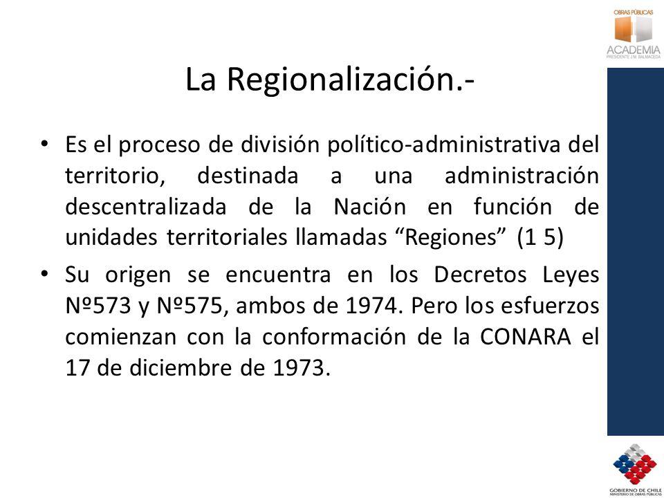 La Regionalización.-