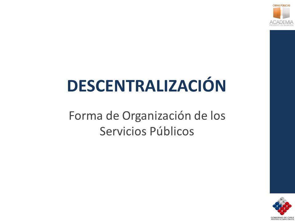 Forma de Organización de los Servicios Públicos
