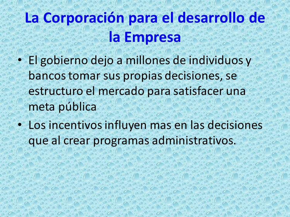 La Corporación para el desarrollo de la Empresa