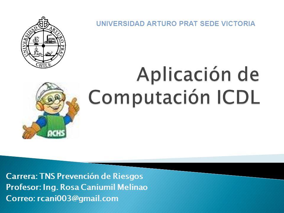 Aplicación de Computación ICDL