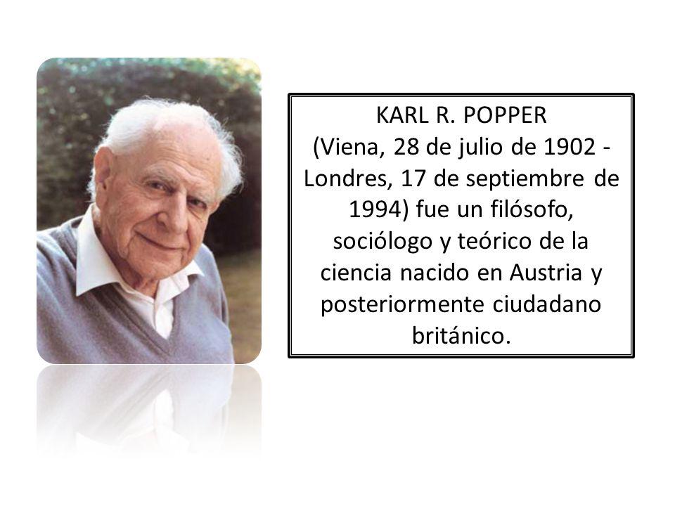 KARL R. POPPER