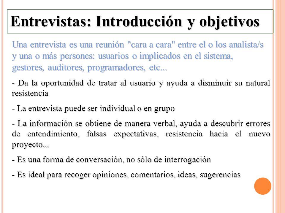 Entrevistas: Introducción y objetivos