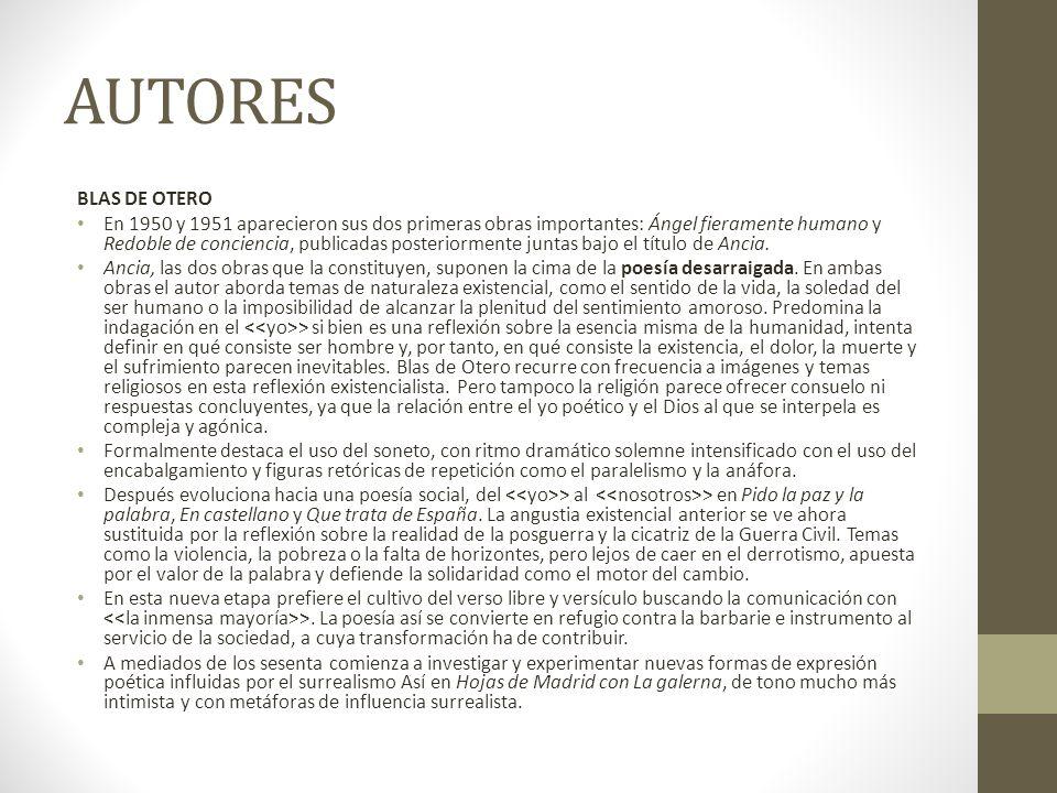 AUTORES BLAS DE OTERO.