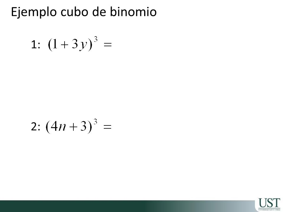Ejemplo cubo de binomio