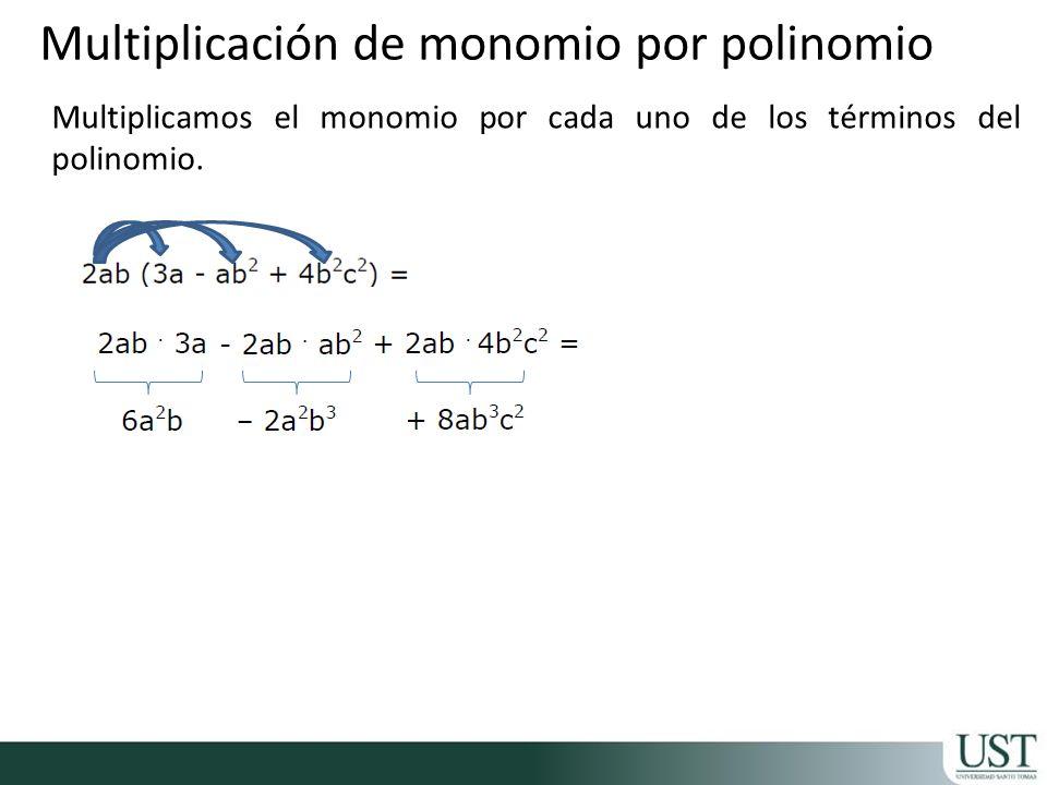 Multiplicación de monomio por polinomio