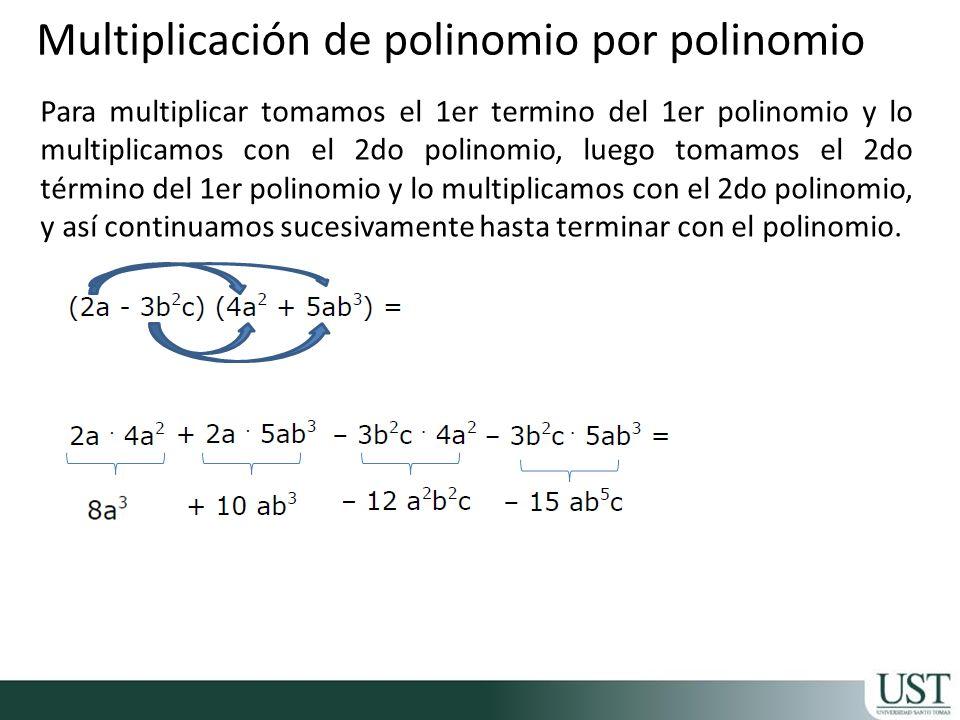 Multiplicación de polinomio por polinomio