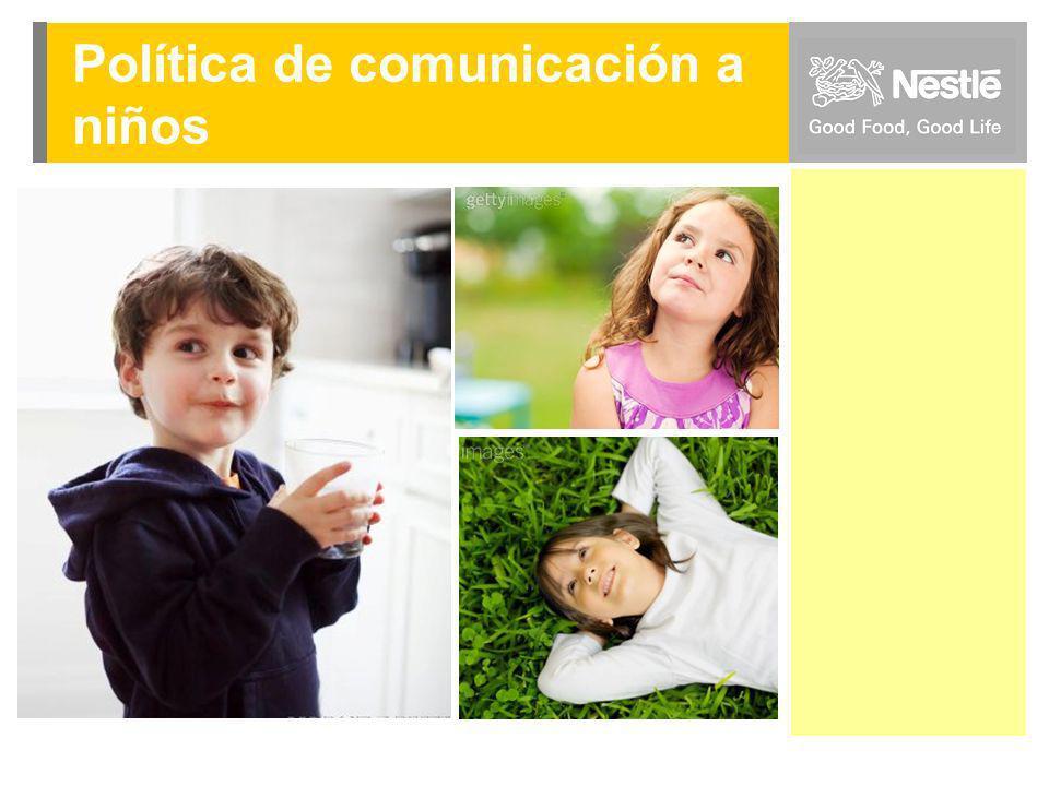 Política de comunicación a niños