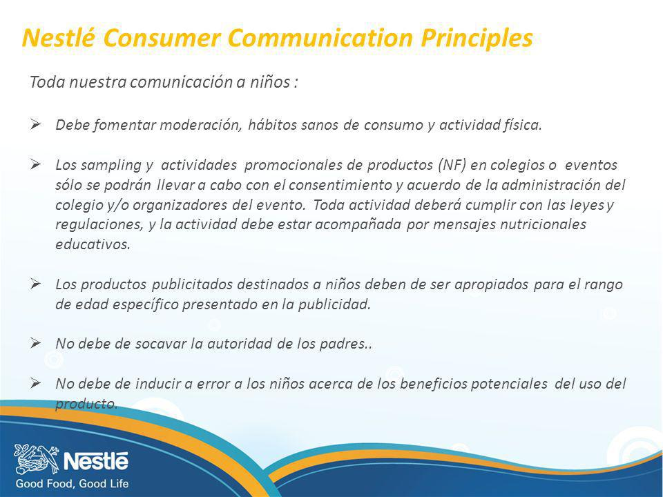 Nestlé Consumer Communication Principles