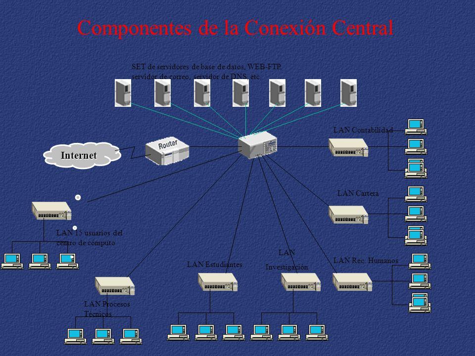 Componentes de la Conexión Central