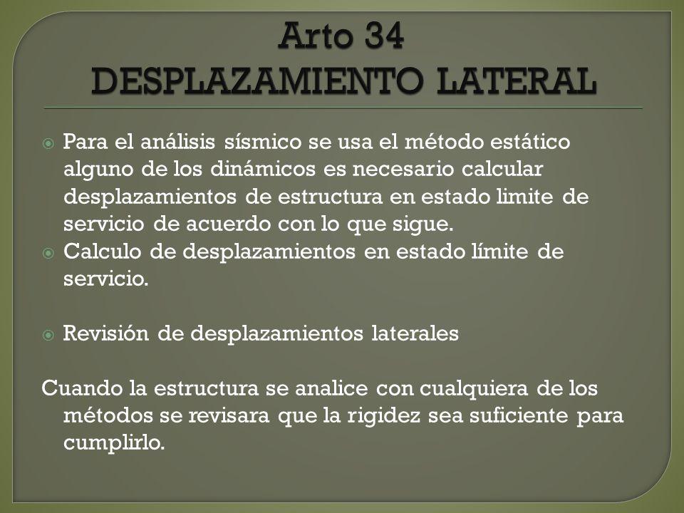 Arto 34 DESPLAZAMIENTO LATERAL