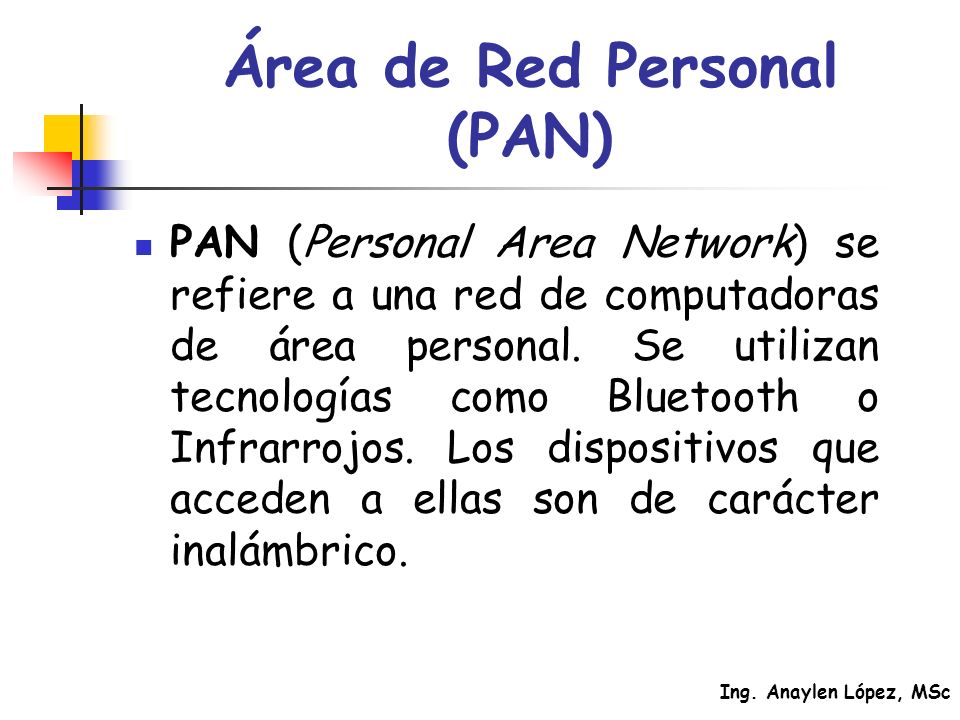 Área de Red Personal (PAN)