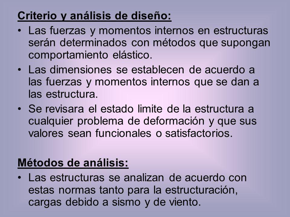 Criterio y análisis de diseño: