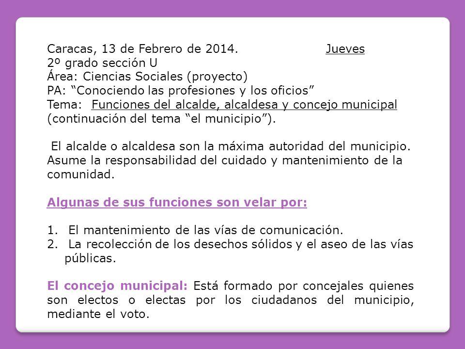 Caracas, 13 de Febrero de 2014. Jueves