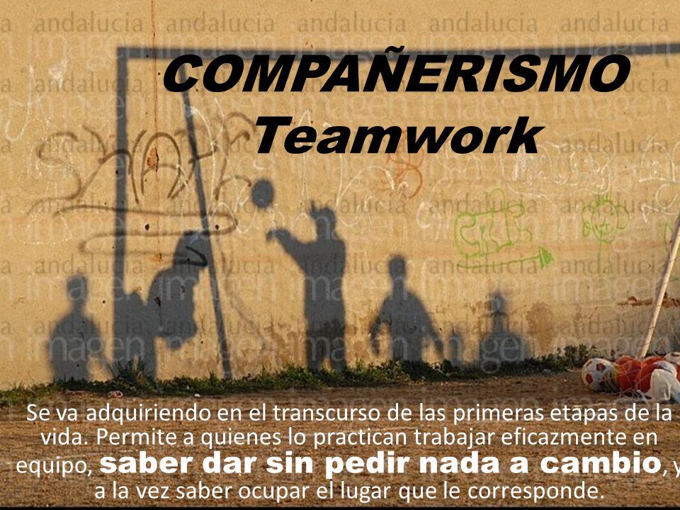 COMPAÑERISMO Teamwork