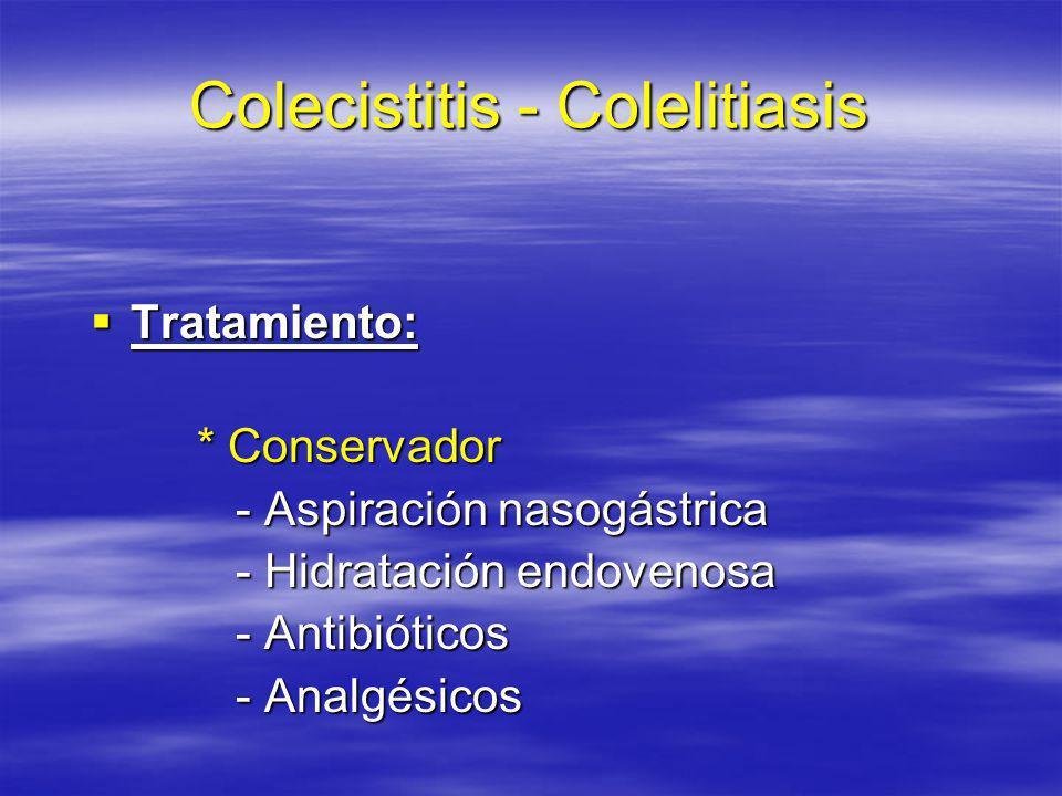 Colecistitis - Colelitiasis