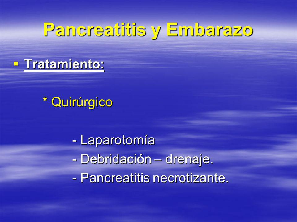 Pancreatitis y Embarazo