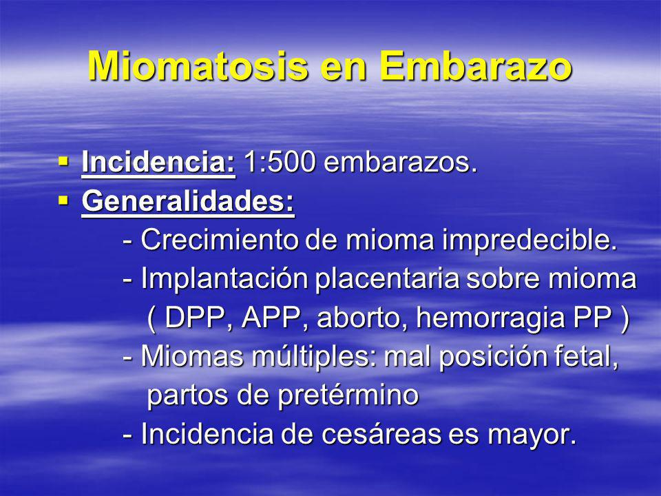 Miomatosis en Embarazo