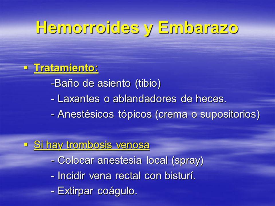 Hemorroides y Embarazo