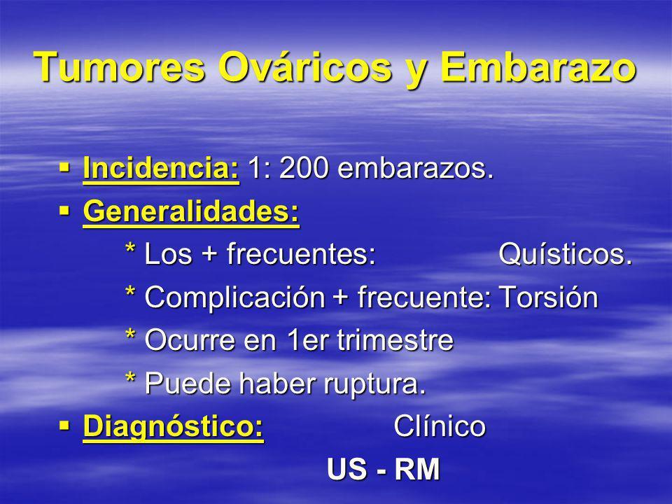 Tumores Ováricos y Embarazo