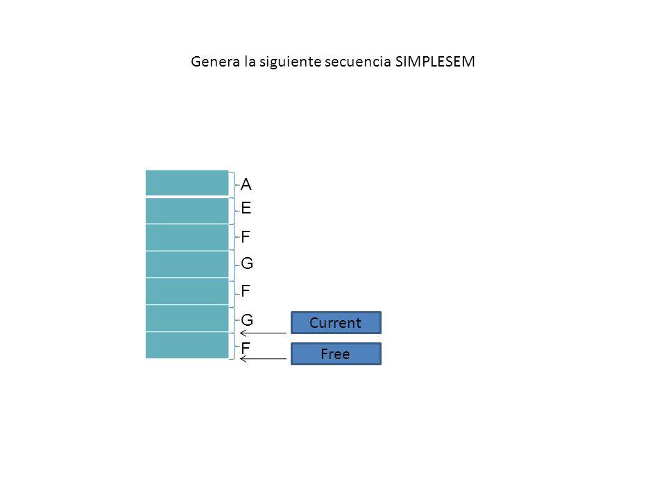 Genera la siguiente secuencia SIMPLESEM