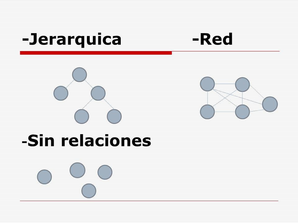-Jerarquica -Red -Sin relaciones