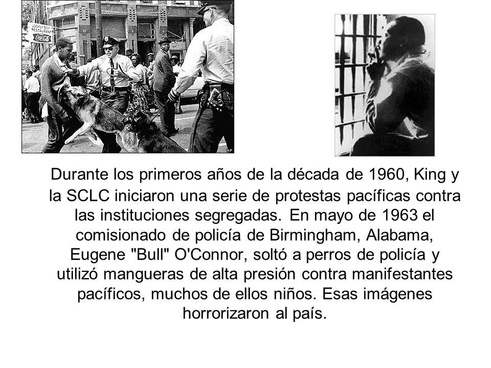 Durante los primeros años de la década de 1960, King y la SCLC iniciaron una serie de protestas pacíficas contra las instituciones segregadas.