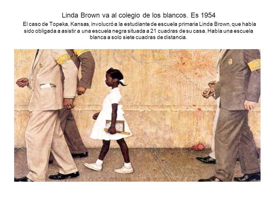 Linda Brown va al colegio de los blancos