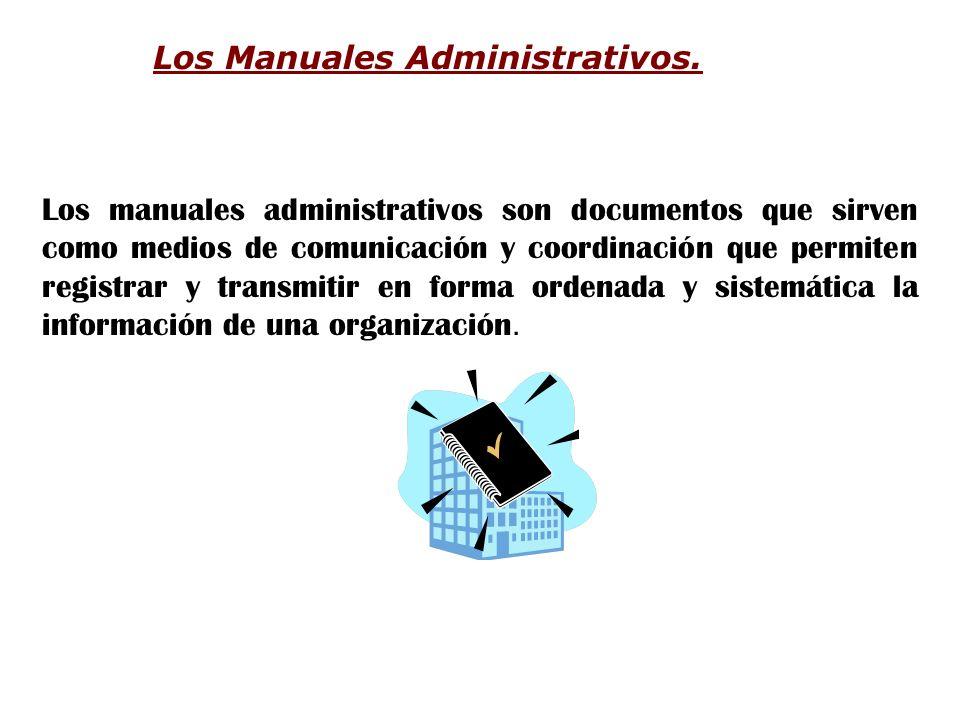 Los Manuales Administrativos.