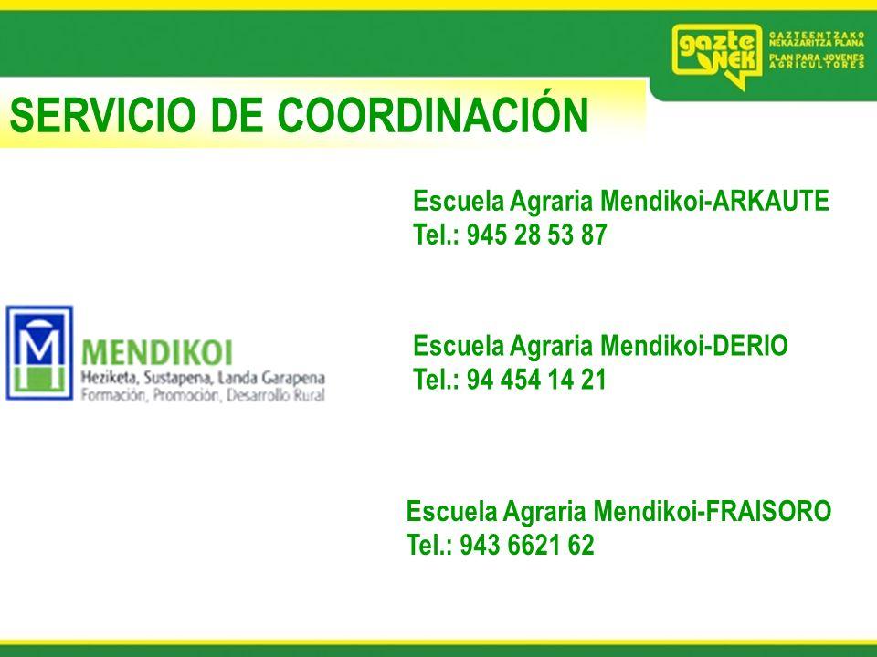 SERVICIO DE COORDINACIÓN