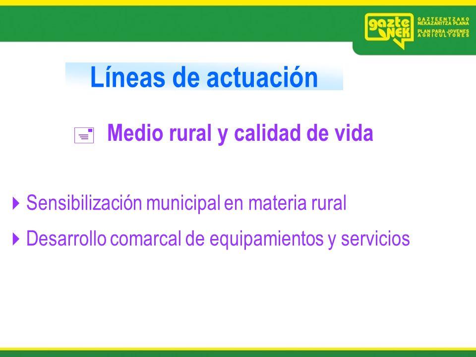 Líneas de actuación Medio rural y calidad de vida