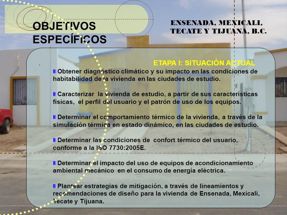 o OBJETIVOS ESPECÍFICOS ENSENADA, MEXICALI, TECATE Y TIJUANA, B.C.