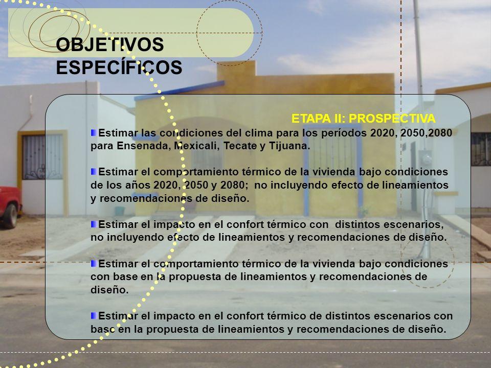 o OBJETIVOS ESPECÍFICOS ETAPA II: PROSPECTIVA
