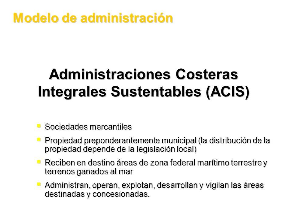 Administraciones Costeras Integrales Sustentables (ACIS)