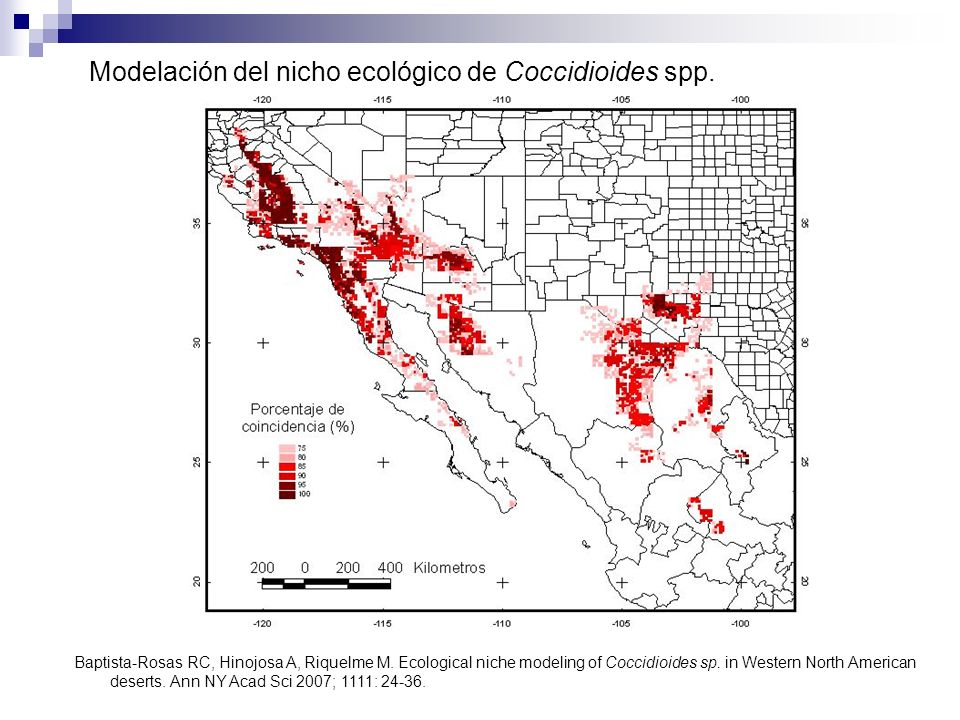 Modelación del nicho ecológico de Coccidioides spp.