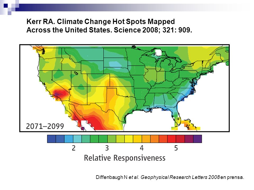 Kerr RA. Climate Change Hot Spots Mapped