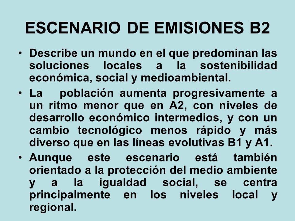 ESCENARIO DE EMISIONES B2