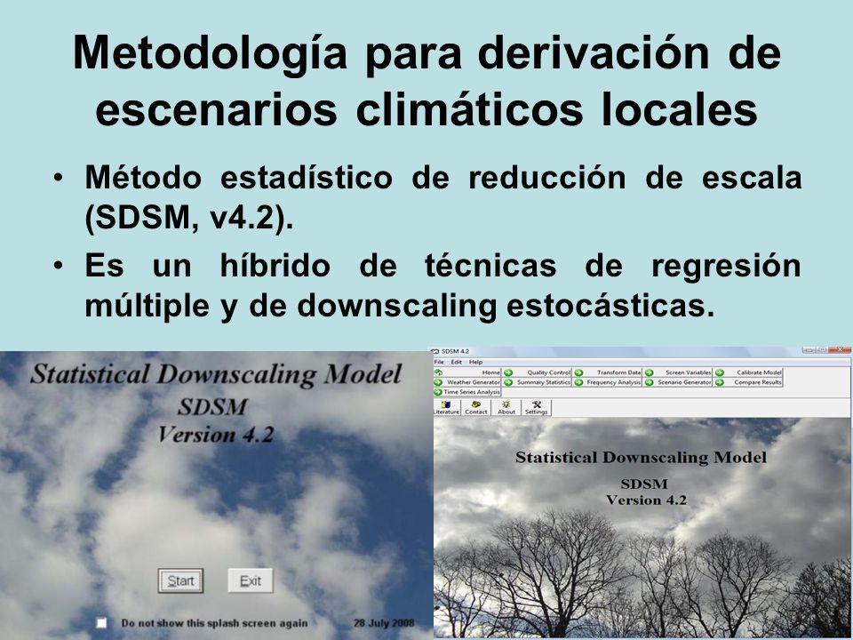 Metodología para derivación de escenarios climáticos locales