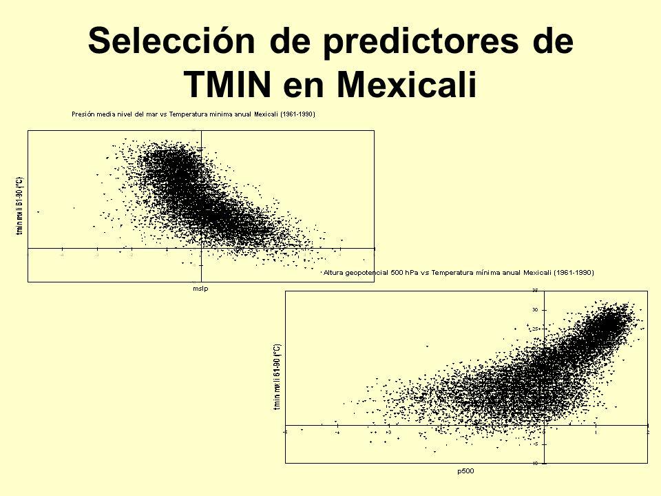 Selección de predictores de TMIN en Mexicali