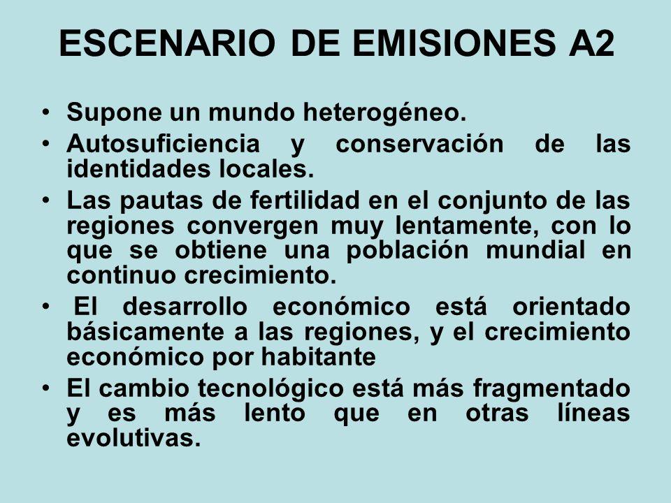 ESCENARIO DE EMISIONES A2