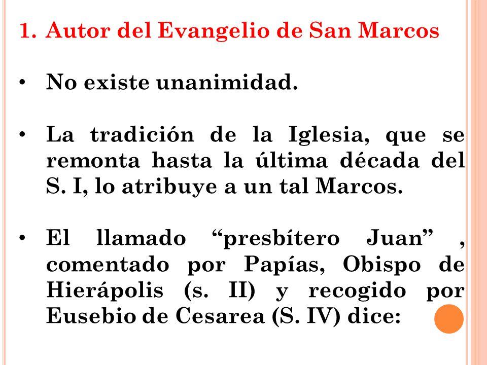 Autor del Evangelio de San Marcos