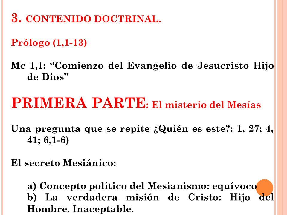 PRIMERA PARTE: El misterio del Mesías